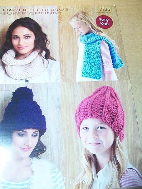 Sirdar, Hayfield Bonus Super Chunky Knitting Pattern 7725