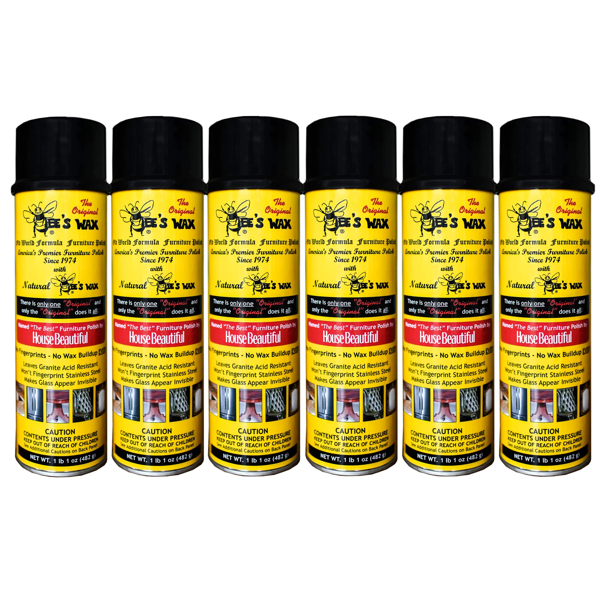 The Original Bee's Wax Old World Formula Furniture Polish - 6 Pack by World Class Promotions