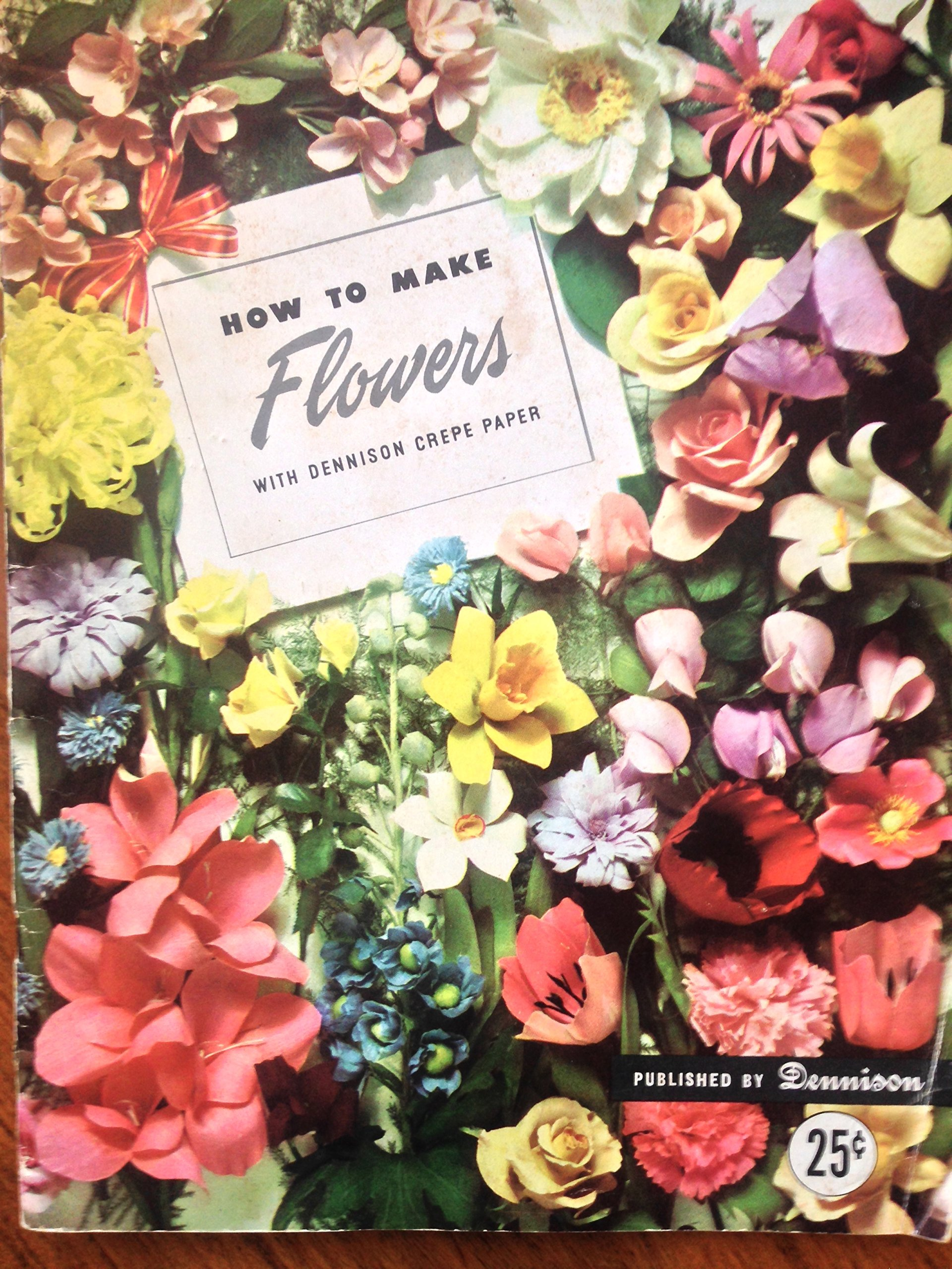 How To Make Flowers With Dennison Crepe Paper Dennison Co Amazon
