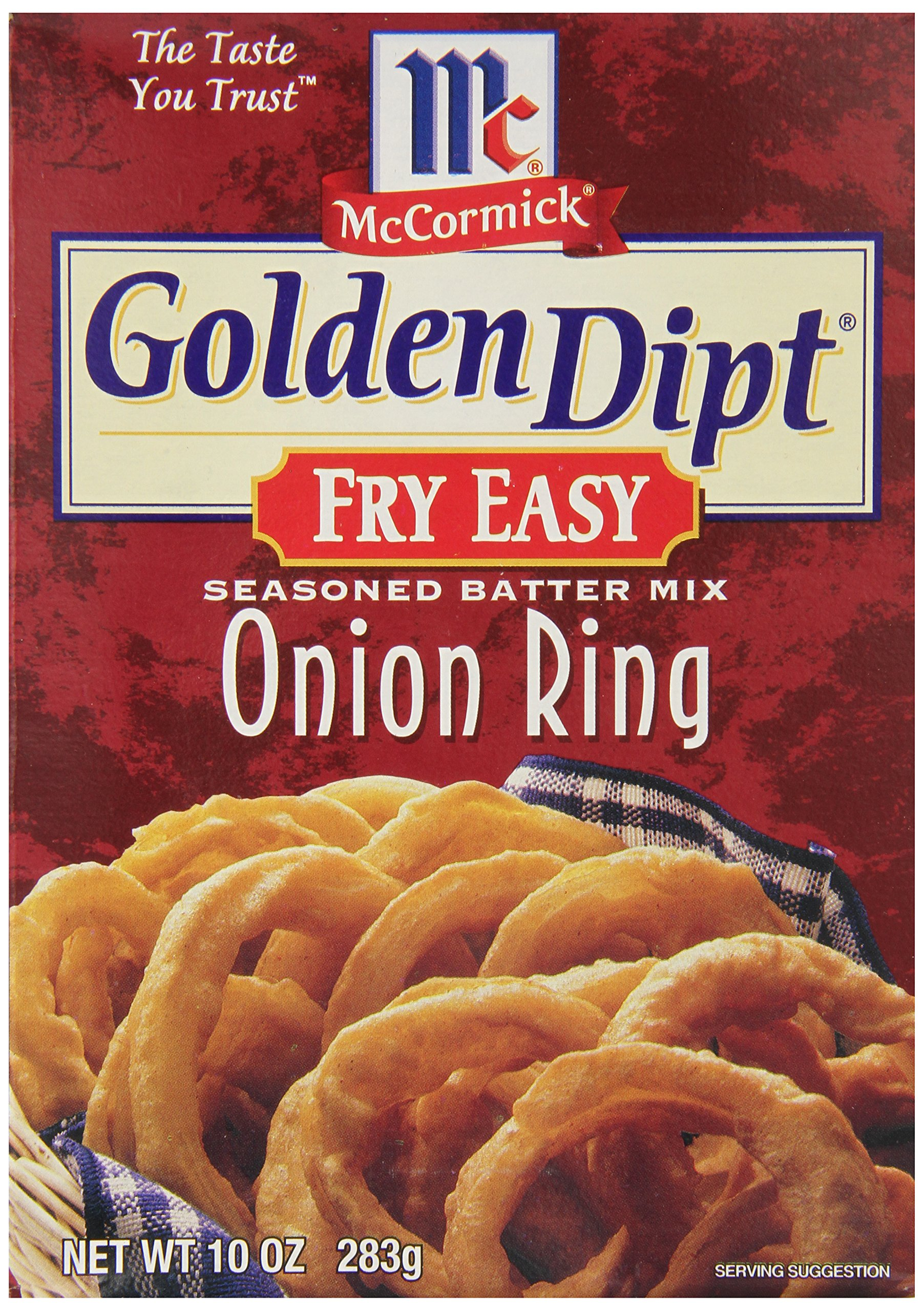 McCormick Golden Dipt Fry Easy Seasoned Batter Mix, Onion Ring, 10-Ounce Unit (Pack of 12)