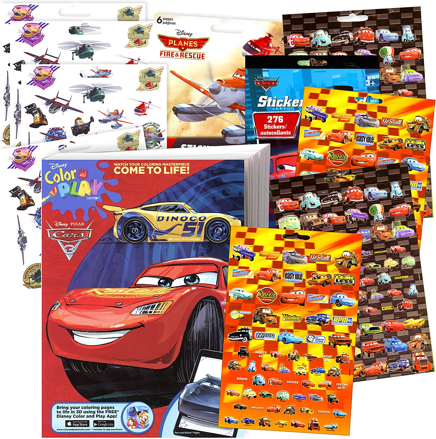 - Amazon.com: Disney Cars 3 Coloring Book And Stickers Super Set