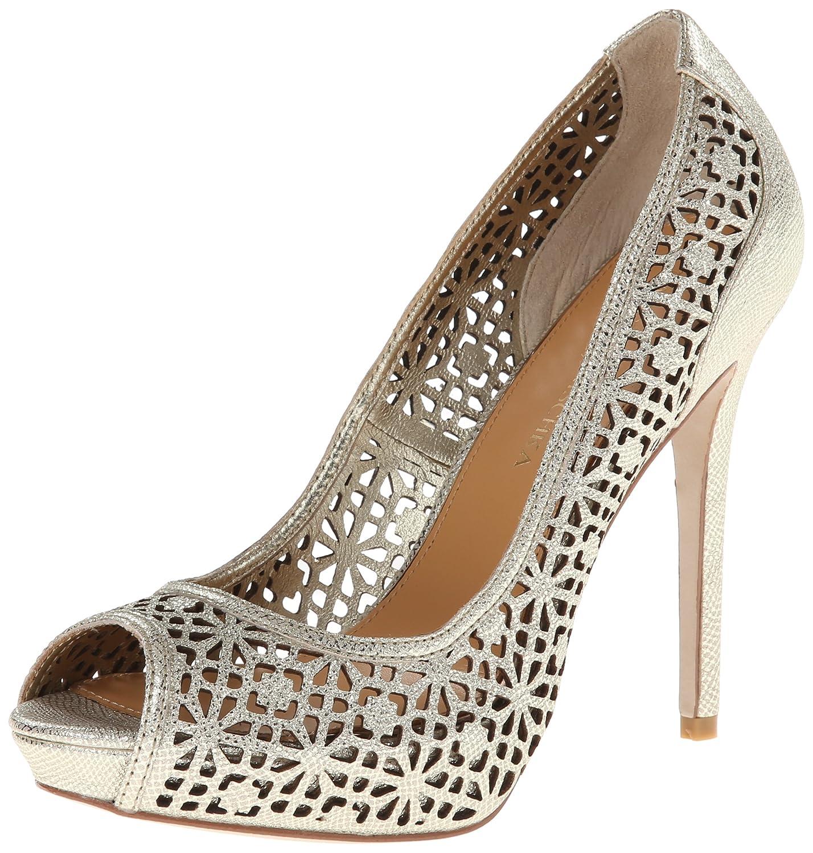 Womens Shoes Badgley Mischka Junior Silver Metallic Leather