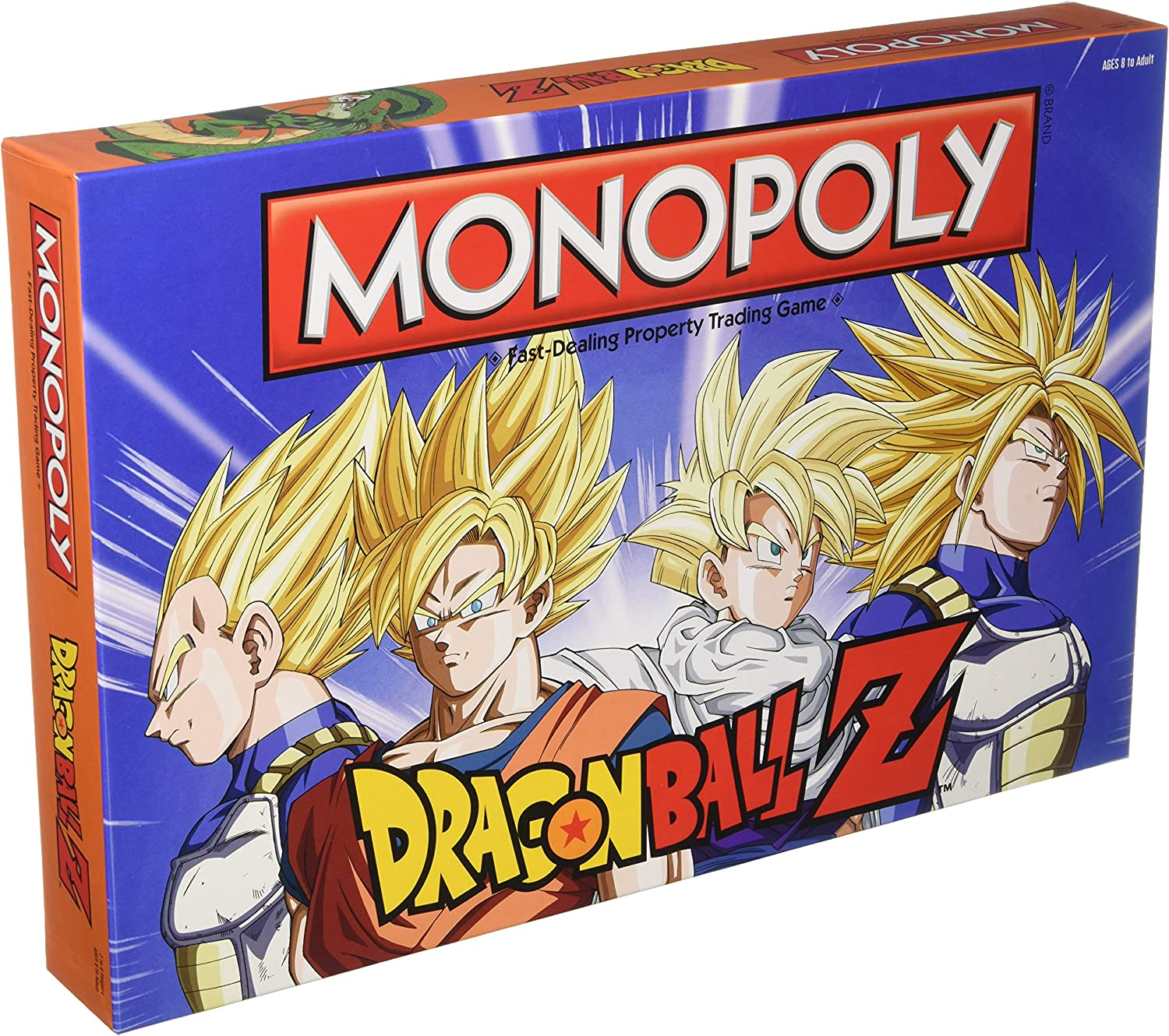 Monopoly Dragon Ball Z Board Game Recruit Legendary Warriors Goku Vegeta And Gohan Official Dragon Ball Z Anime Series Merchandise Themed Monopoly Game Toys Games