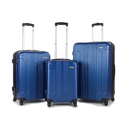 8a98514fa AMKA Remus Hardside 3-Piece Expandable Spinner Upright Luggage Set-Navy:  Amazon.co.uk: Luggage