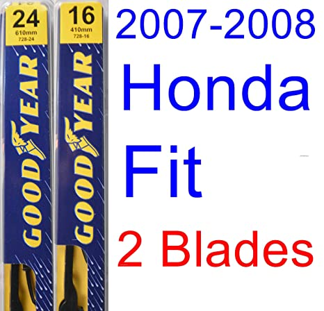 Amazon.com: 2007-2008 Honda Fit Replacement Wiper Blade Set/Kit (Set of 2 Blades) (Goodyear Wiper Blades-Premium): Automotive