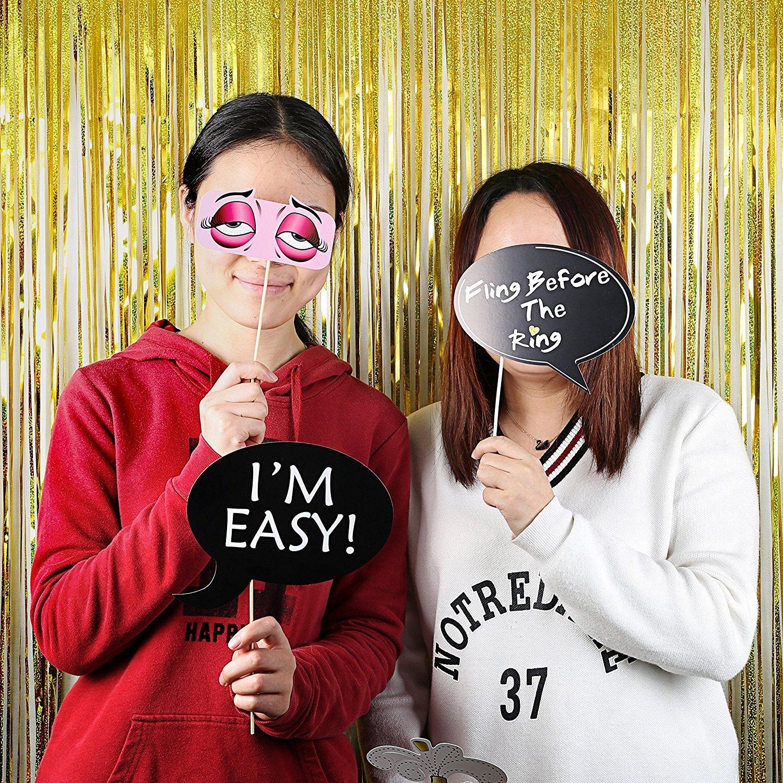 Morkia Photo Booth, 30 Pièces Photobooth Décoration Accessoires Props Photobooth Selfie Accessoires Décoration Lèvre/Bouche/Sourire/Lunettes/Moustache Avec Bâton Pour Fête, Mariage, Anniversaire