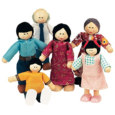 Small World Toys Ryan's Room Wood Doll House -Family Affair Asian-American Doll Family: Toys & Games