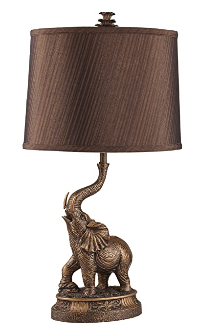Genial ORE International 8025 27 Inch Bronze Elephant Table Lamp