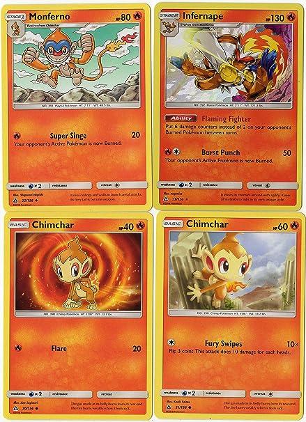 amazon com pokemon evolution set infernape monferno chimchar