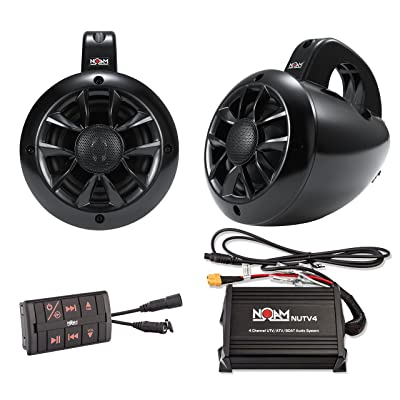 NOAM NUTV4 - Marine Bluetooth ATV/Golf Cart/UTV Speakers Stereo System: Automotive