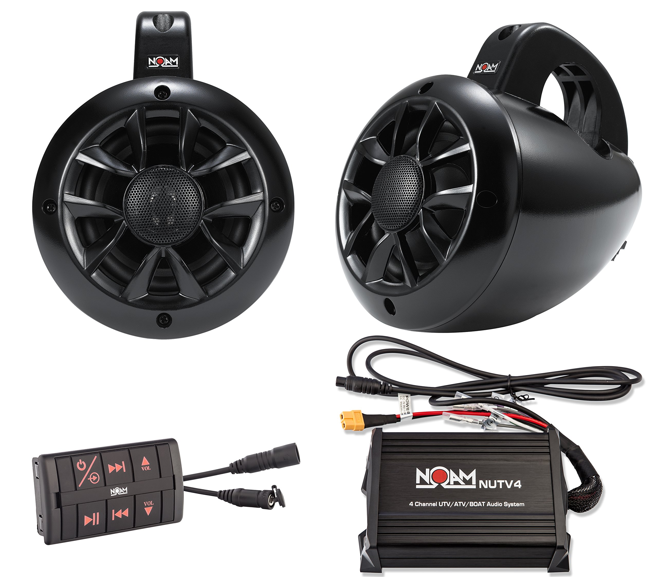 NOAM NUTV4 - Marine Bluetooth ATV / Golf Cart / UTV Speakers Stereo System by NOAM
