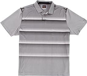 29b8a6e60 Greg Norman for Tasso Elba Men Small Stripe Polo Rugby Shirt Gray S