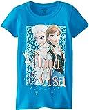 Disney Girls' Frozen Anna and Elsa T-Shirt