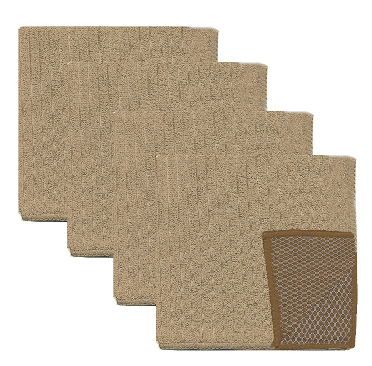 Gourmet Pro Solid 4 Pack Scrubber Dish Cloth 4, 12 x 12, Camel, 4 Piece Domay Inc. 79920