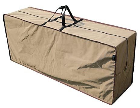 SORARA Rectangular Cushion Cover Storage Bag Outdoor Protective Zippered  Patio Furniture Cover, Water Resistant,