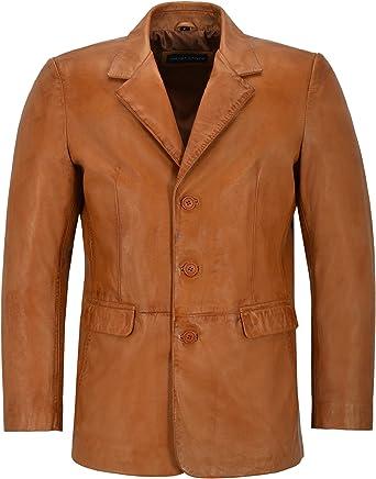 New Stylish Men/'s White Classic Italian Tailored Blazer Lambskin Leather Jacket