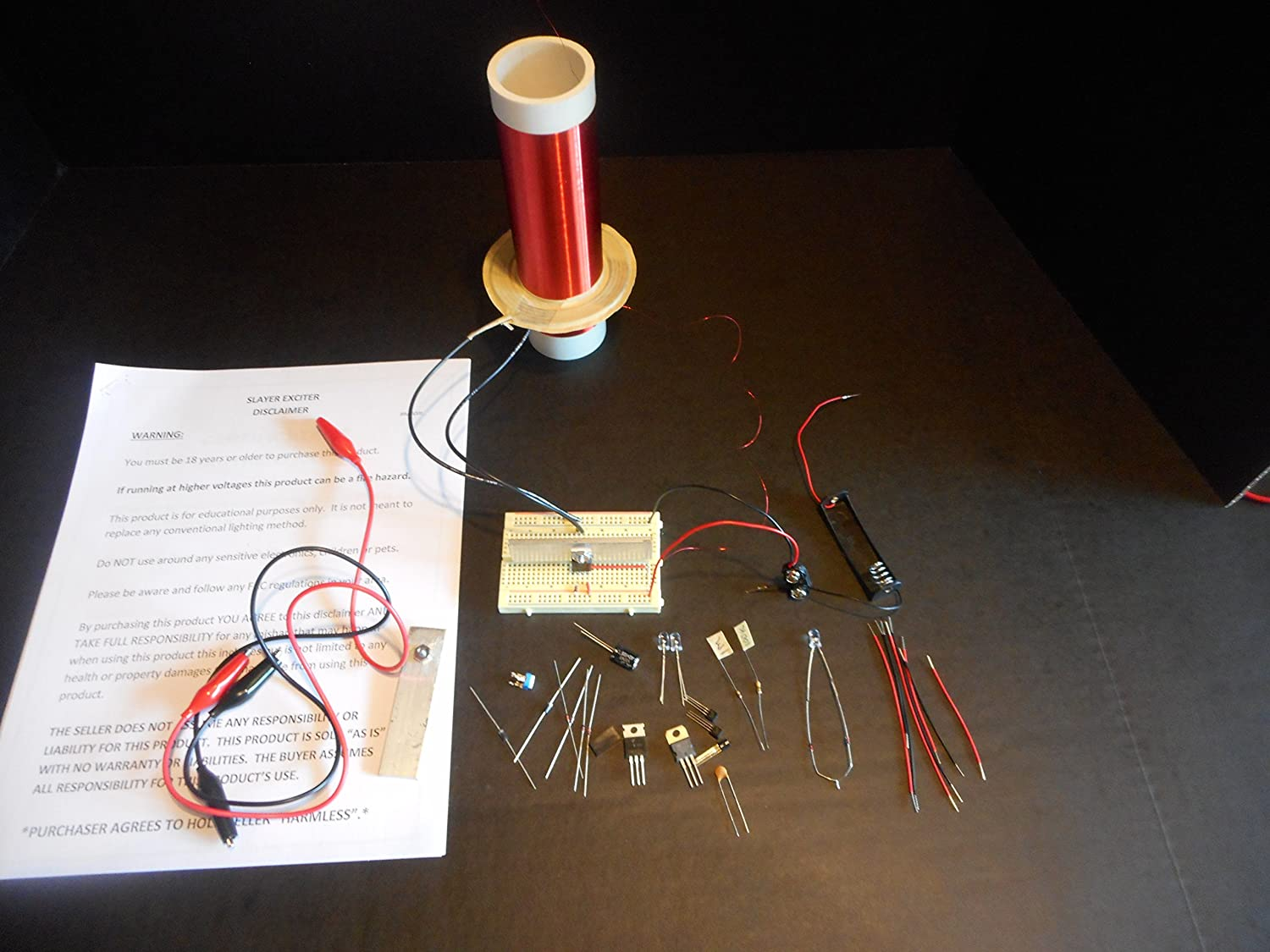 Mid Size Slayer Exciter Tesla Coil Made In Usa Circuit Diagram Emitter Industrial Scientific