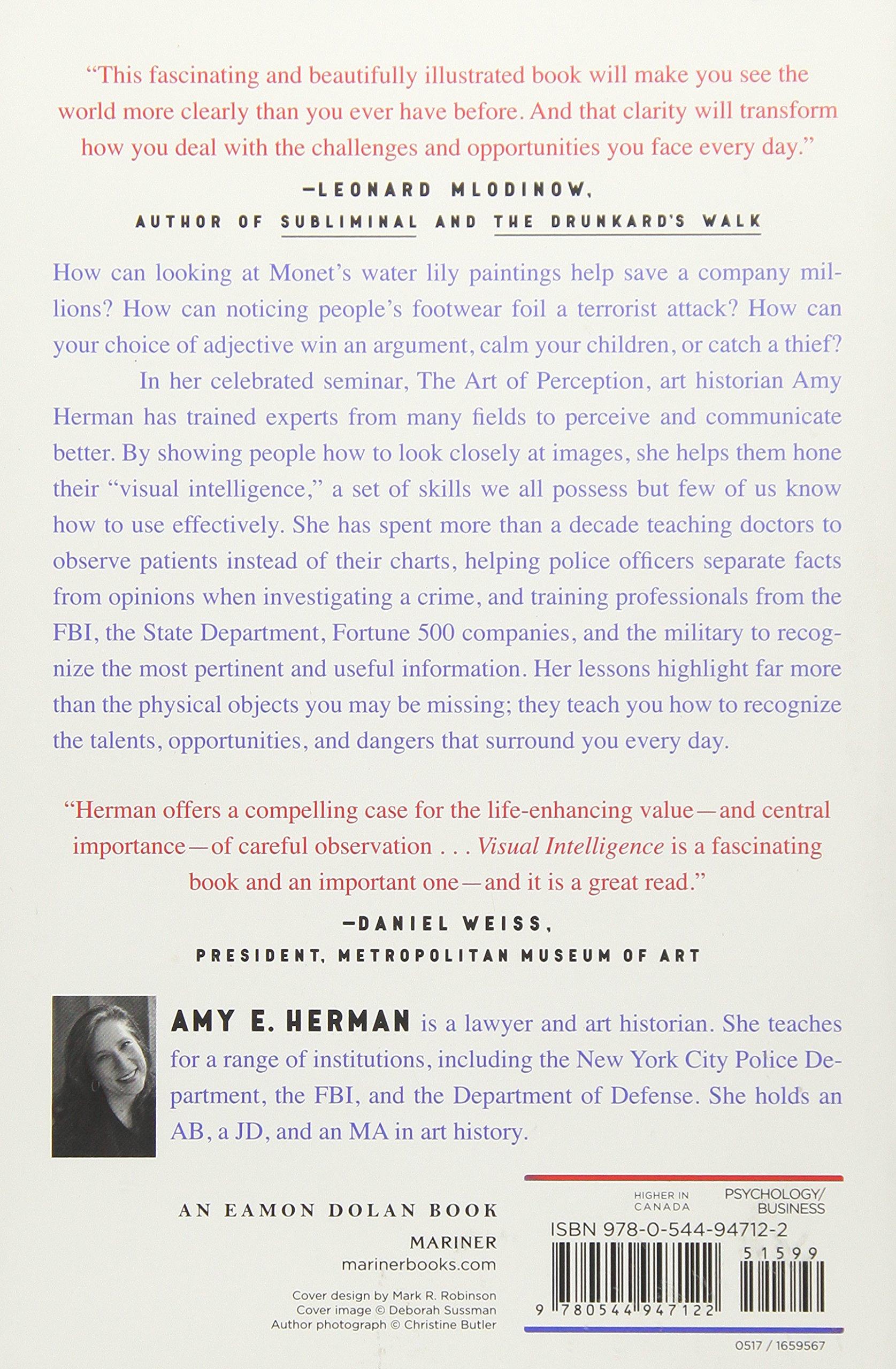 18f7833bb Visual Intelligence: Sharpen Your Perception, Change Your Life: Amazon.it:  Amy E. Herman: Libri in altre lingue