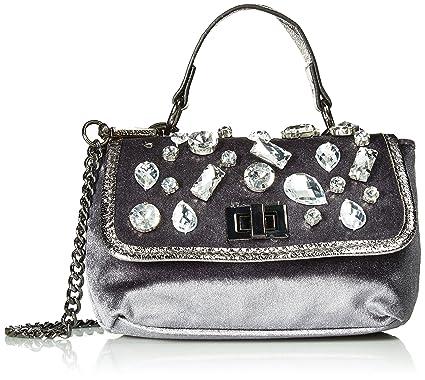 27b1ccab09 Steve Madden Valera, grey: Handbags: Amazon.com
