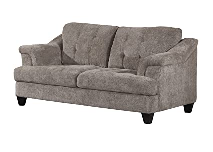 Amazon.com: Home Source U-76000-LV Silver Loveseat: Kitchen ...