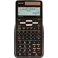 Sharp EL-W516TBSL 16-Digit Advanced Scientific Calculator with WriteView 4 Line Display, Battery and Solar Hybrid Powered LCD Display, Black & White