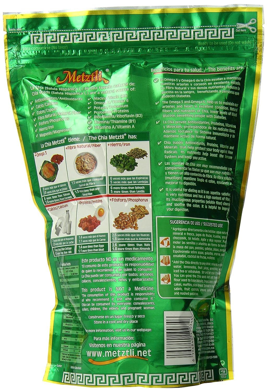 Amazon.com : Metztli Chia Seeds, 13.02 Ounce : Edible Seeds : Grocery & Gourmet Food