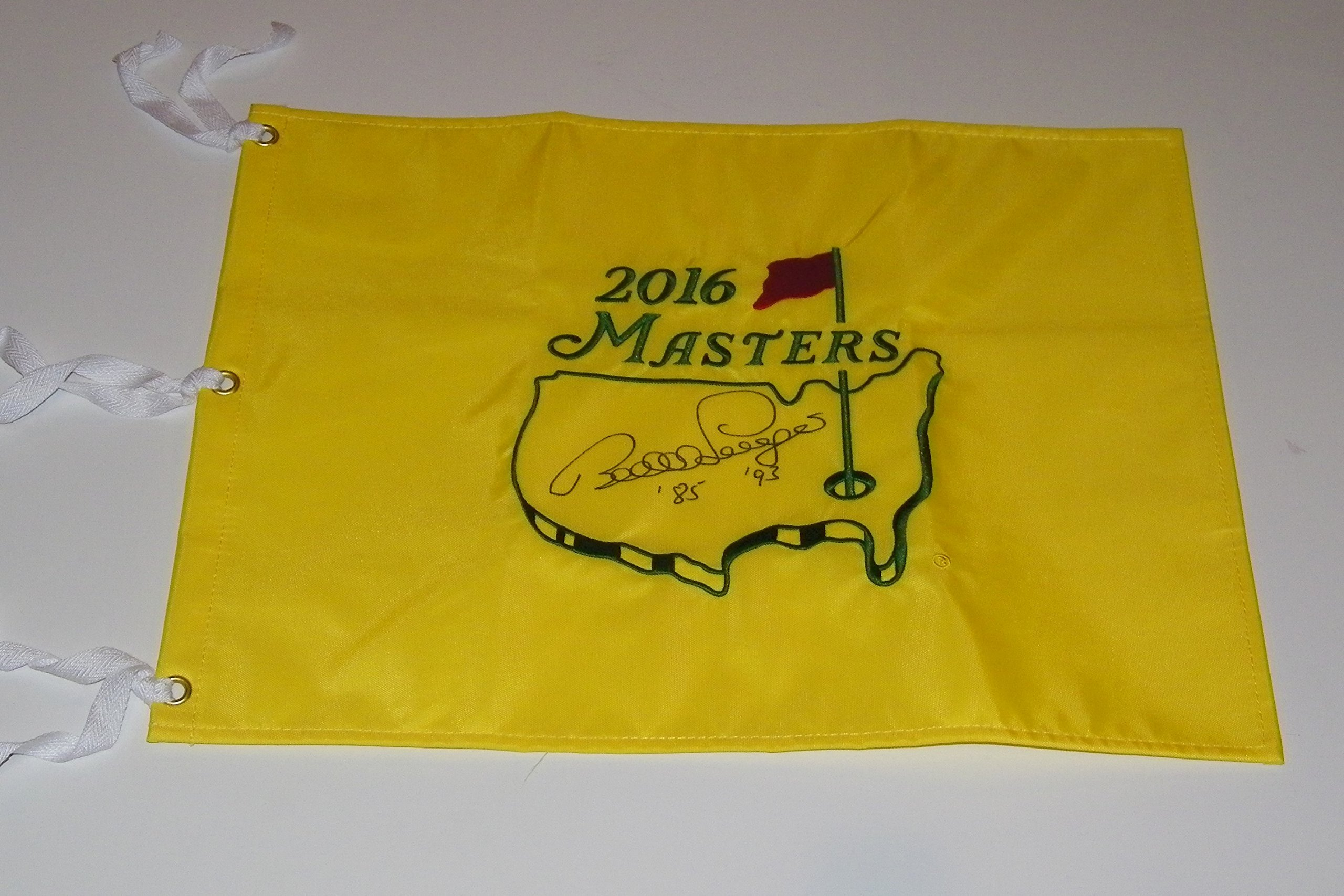 Bernhard Langer Signed Autographed Auto Masters Pin Flag w/85 & 93 Augusta National