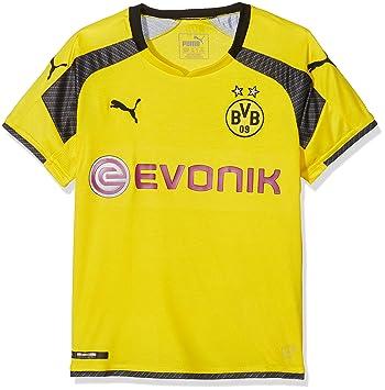 Puma - Camiseta para niños réplica del Equipo Borussia Dortmund BVB con Logotipo del patrocinador,
