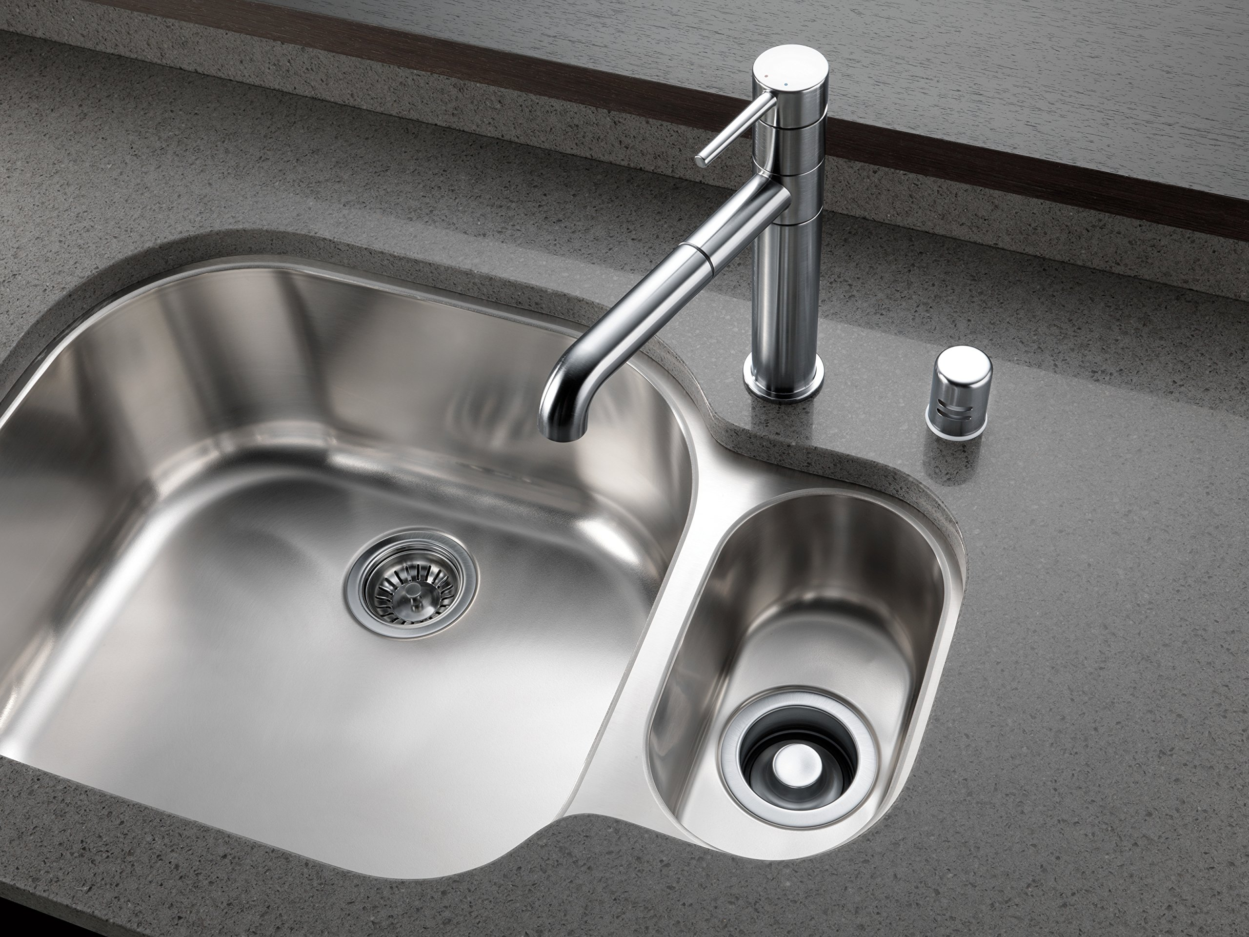 Delta Faucet 72010-AR Flange and Strainer Kitchen Sink, Arctic Stainless by DELTA FAUCET (Image #1)