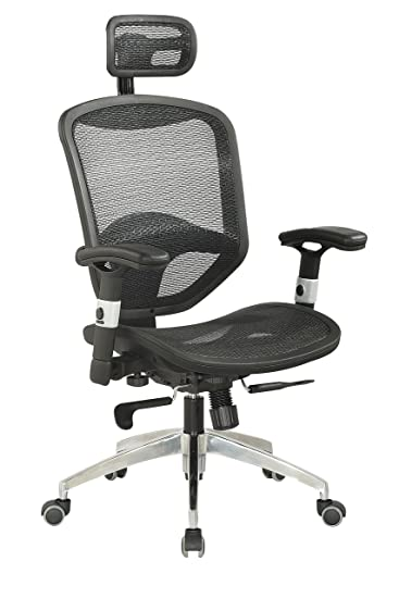 Amazon.com: Chintaly Imports 4025 Mesh Seat and Back with Headrest ...