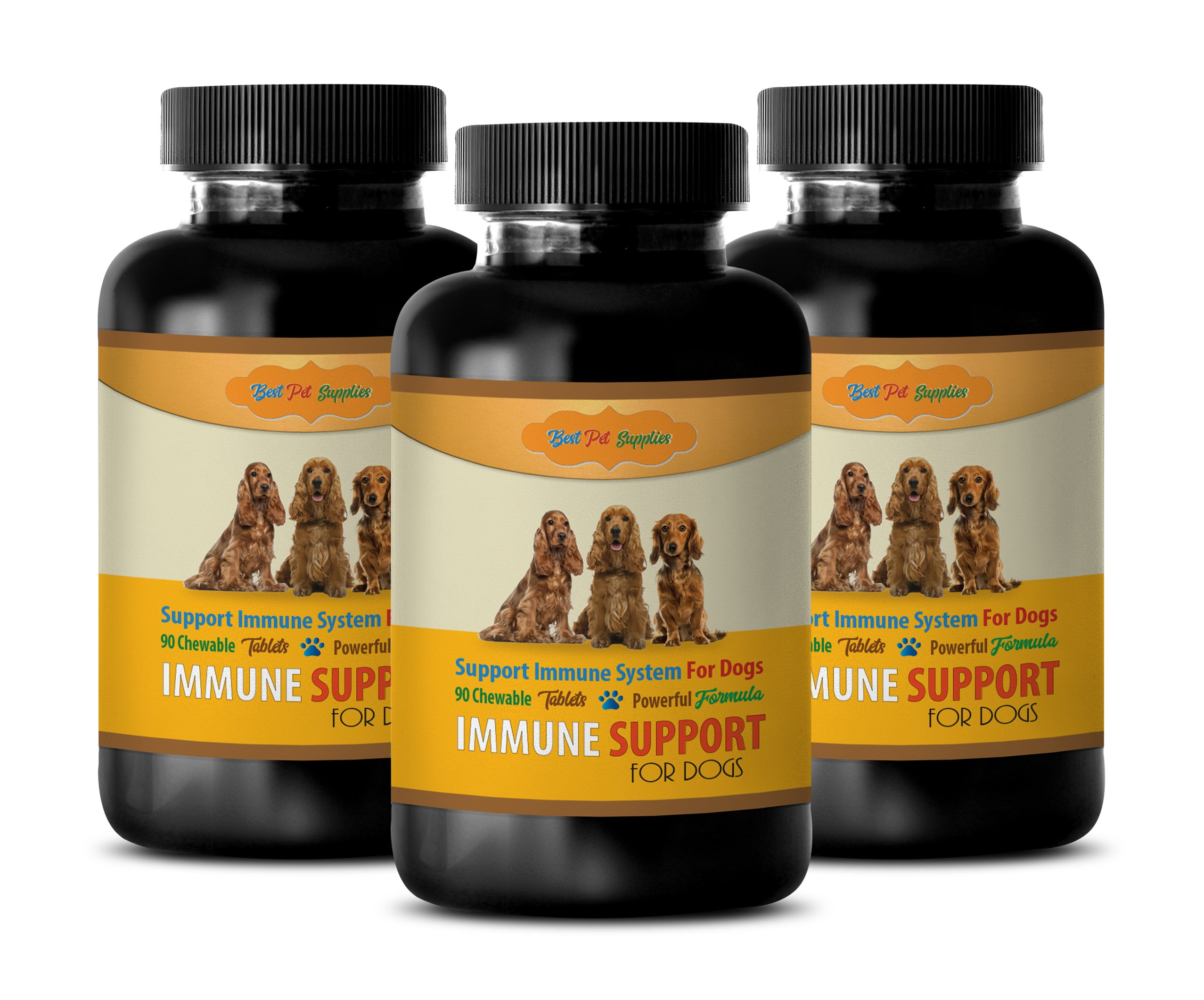 dog liver support - POWERFUL IMMUNE SUPPORT FOR DOGS - BEST IMMUNE FORMULA - CHEWY TREATS - dog immune booster - 270 Chews (3 Bottle) by BEST PET SUPPLIES LLC