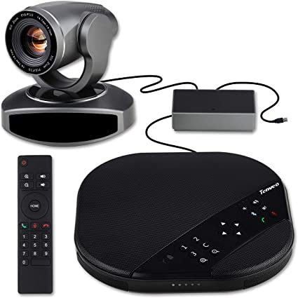 VHD3U + Bluetooth Speaker Tenveo All-in-one Video Conferencing System 3X Optical Zoom USB PTZ Conference Room Camera for Business Meetings