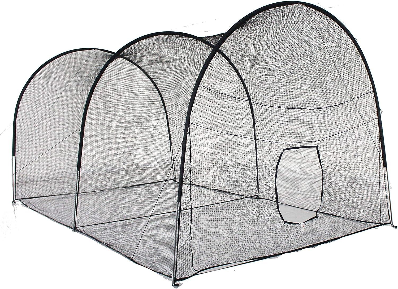 Kapler Batting Cage Baseball Softball, Batting Net Backyard Baseball Softball Training Equipment, Large Batting Cage Net with Steel Frame & Net.