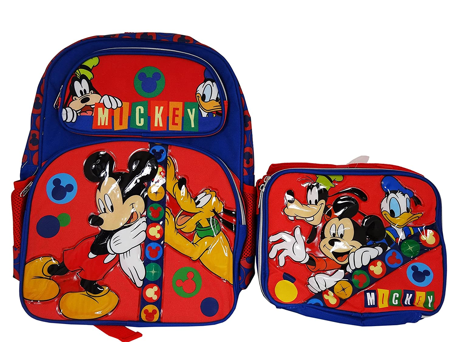 Disney Mickey Mouse and Friends Backpack and Lunch bag combo set.   Amazon.co.uk  Clothing 50f972f2022cd
