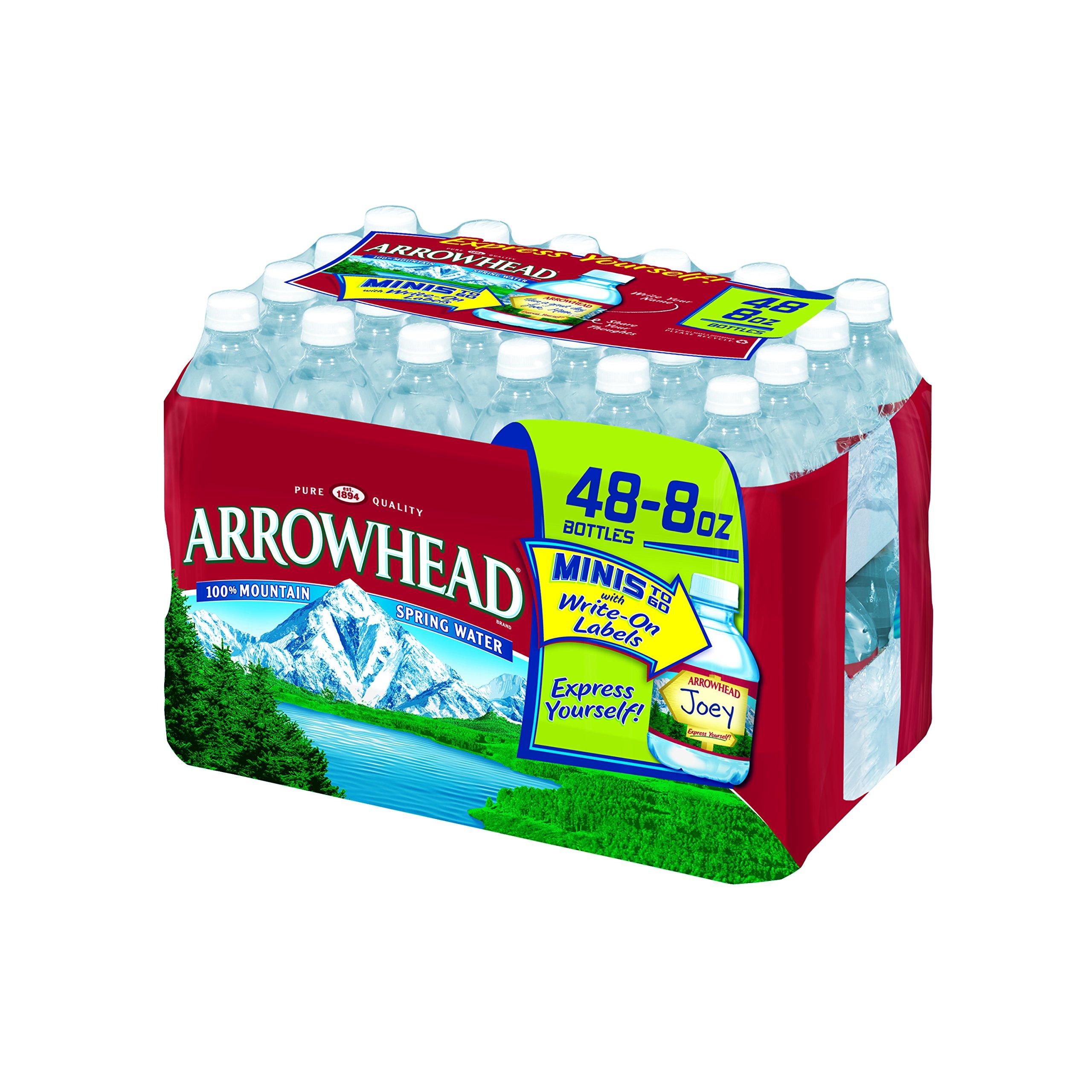 Arrowhead Mountain Spring Water, 8 Oz (Carton of 48)