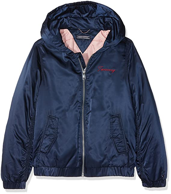 Tommy Hilfiger Essential Hooded Bomber Jacket, Chaqueta para Niñas: Amazon.es: Ropa y accesorios