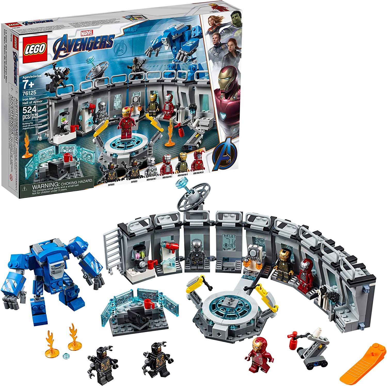 Marvel Avengers Endgame Iron Man Hall of Armor 76125 Building Blocks Toy DIY Set