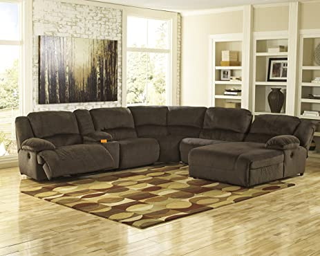 Toletta Contemporary Chocolate Low melt fiber Reclining Power Sectional Sofa : sectional sofa amazon - Sectionals, Sofas & Couches