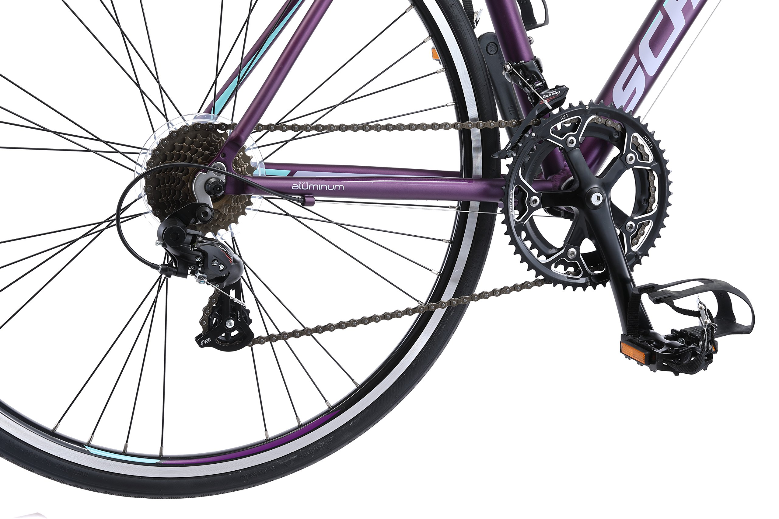 Schwinn Volare 1400 Road 700C Wheel Bicycle, Matte Purple, 48 cm/One Size by Schwinn (Image #4)