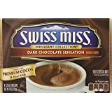 Swiss Miss, Dark Chocolate Sensation, Hot Cocoa Mix, 8 Count, 10oz Box (Pack of 2)