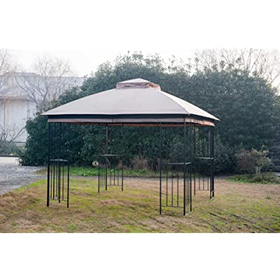 Sunjoy 110109342 Original Replacement Canopy for Easy Up Gazebo Tan (10X10 Ft) L-GZ038PST-F Sold at Lowe's, Khaki: Garden & Outdoor