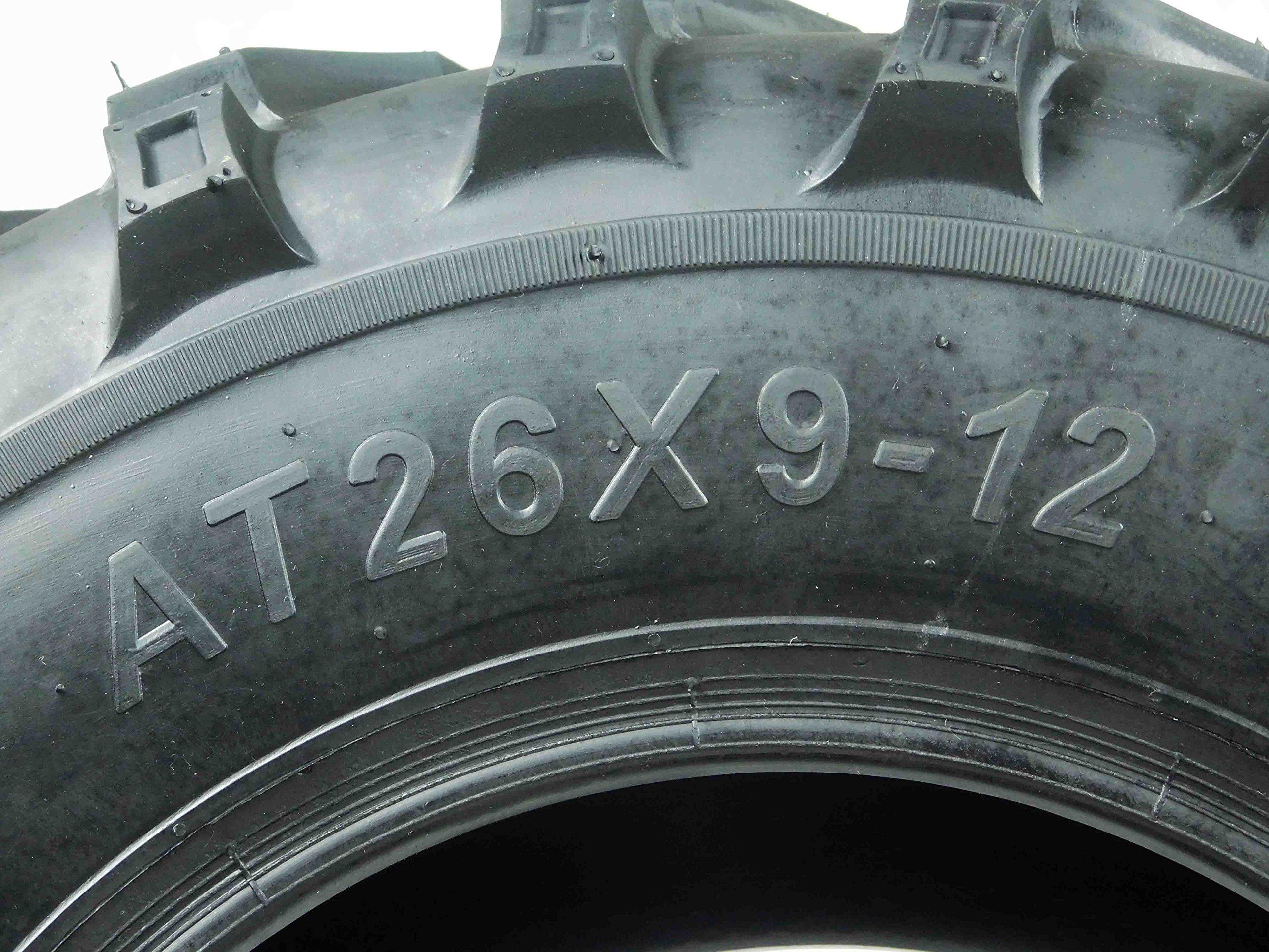 New Single MASSFX MS ATV/UTV Tire 26 x9-12 Front, 26x9x12 26x9/12 by MASSFX (Image #4)