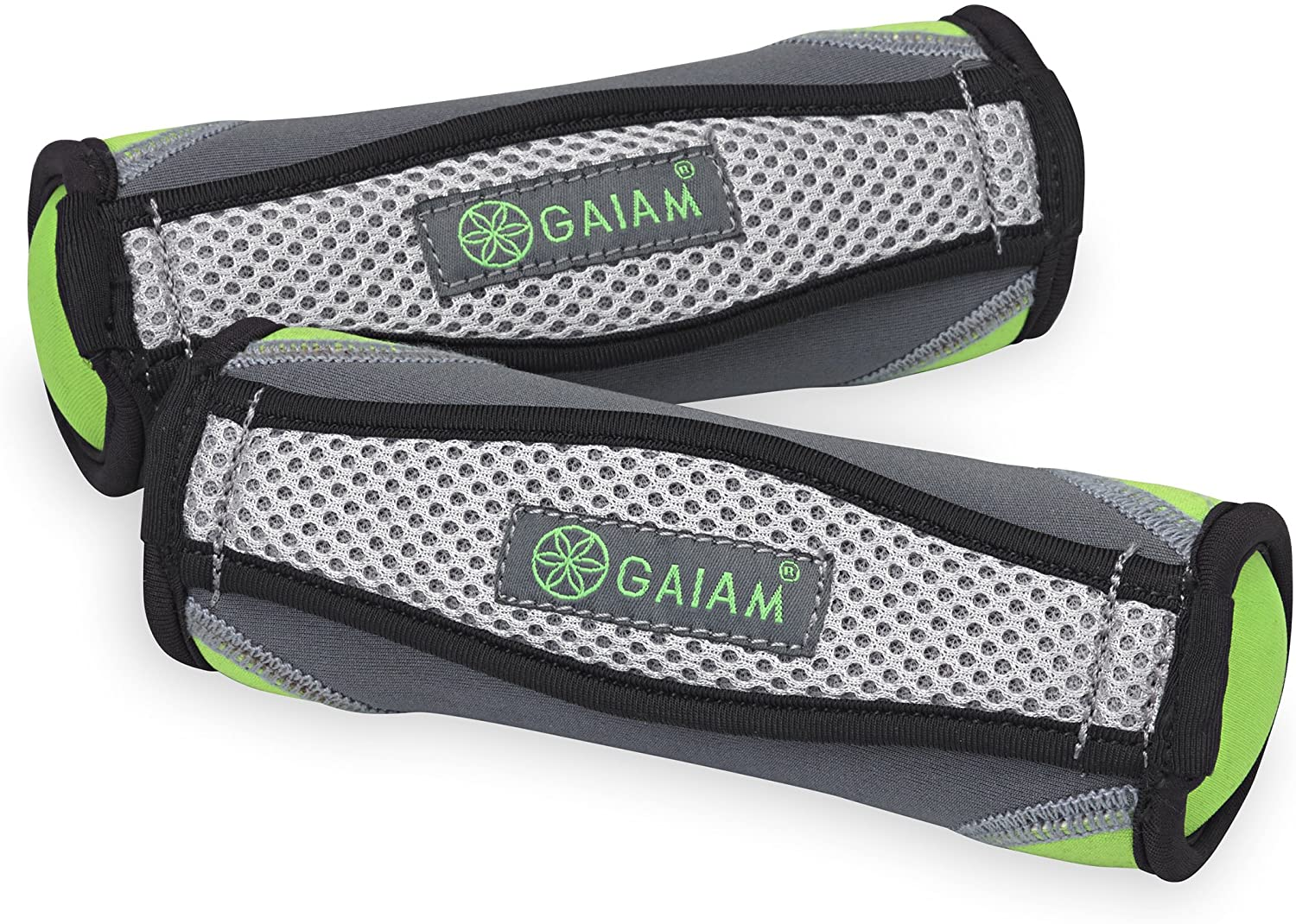 Gaiam Hand Weights for Women & Men Soft Dumbbell Walking Hand Weight Sets with Hand Strap - Walking, Running, Physical Therapy, Aerobics (Available in 2lb and 4lb Sets)
