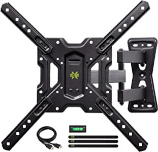 """USX MOUNT Full Motion Swivel Articulating Tilt TV Wall Mount Bracket for 26-55"""" LED, OLED, 4K TVs-Fit for 32, 40, 50 TV with VESA Up to 400x400mm-Weight Capacity Up to 60lbs"""