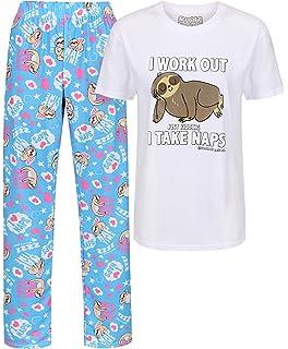 Cat Lady David and Goliath Cat Themed PJ Pyjama Set White