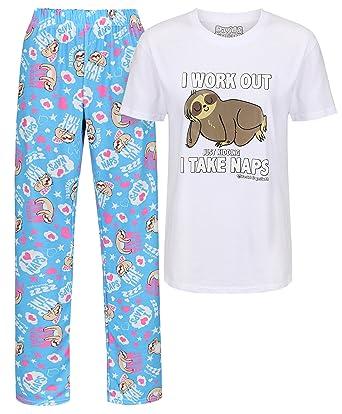 8f2cc5e4a7f David and Goliath I Work Out Take Naps sloth womens pyjamas