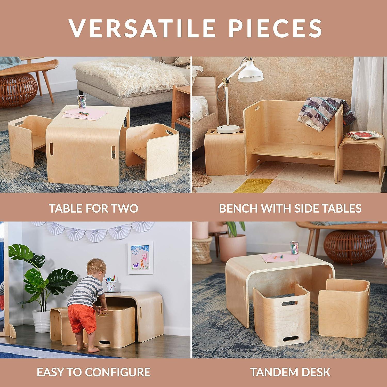 Space Saving Multipurpose Kids Desk and Chair Set