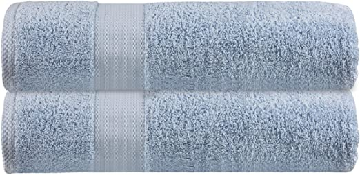 Hotel /& Spa Quick Drying Ideal for Everyday use Premium Ultra Soft Oversized 2 Pack Bath Sheet 35x70-100/% Pure Ringspun Cotton Multipurpose Towels Set White Highly Absorbent