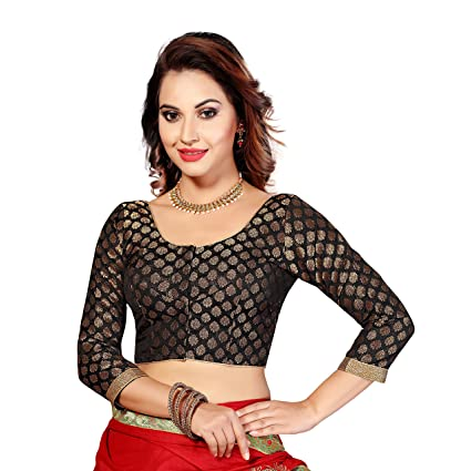 Studio Shringaar Brocade Blouse Saree Blouses at amazon
