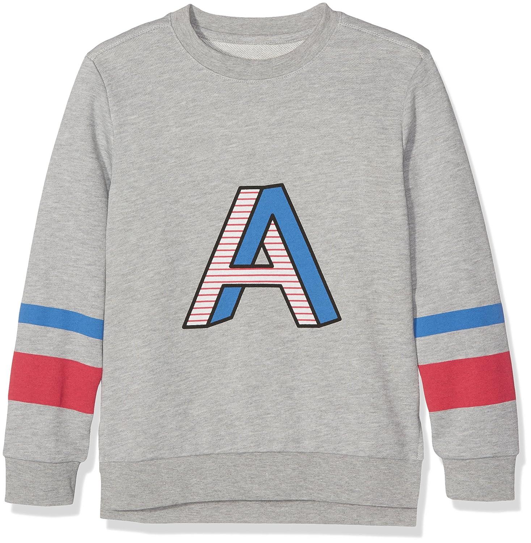 Ben & Lea Sweater für Kinder, Sweatshirt Mädchen in grau mit Print auf der Vorderseite 12114